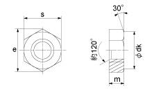 Bản vẽ đai ốc 6 cạnh