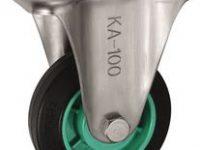 Bánh xe cố định Ø100, Inox (KA-100)